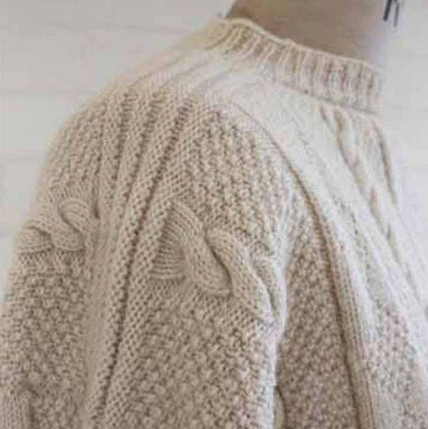Vintage Gansey sweater Yorkshire coast - British made clothing by waysideflower.co.uk