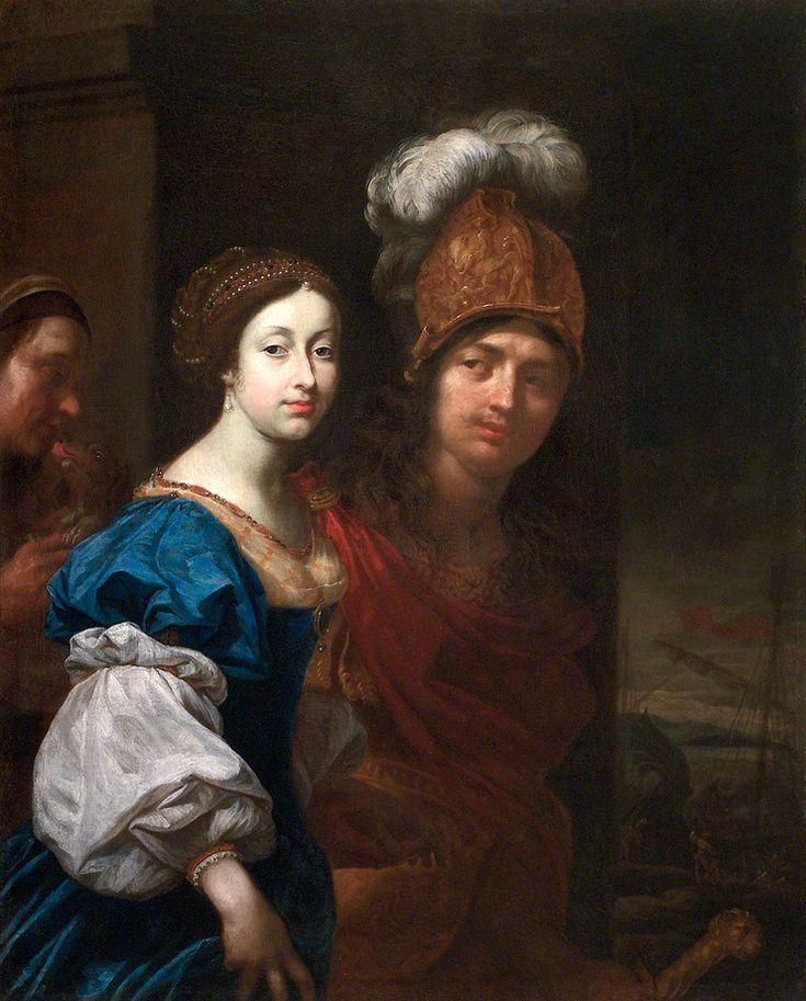 Karel Škréta - Paris a Helena (1672, NG Praha). Svatební dvojportrét Františka Antonína Berky hraběte Hovory z Dubé a Lipého a Aloisie Ludoviky Anny de Montecuccoli.