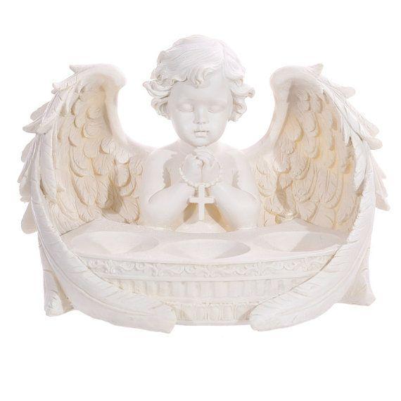 Angel Ornament Cherub Praying Triple Tealight by getgiftideas