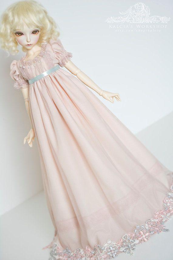 Powdered Lies  regency style dress for slim Mini Super by kalcia