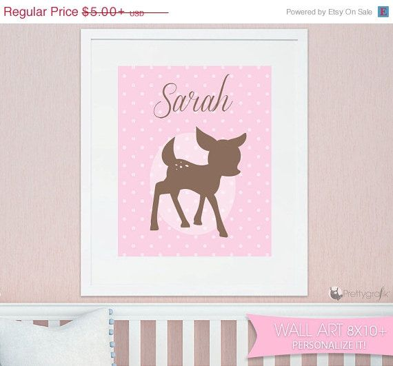 Hey, I found this really awesome Etsy listing at https://www.etsy.com/listing/219717177/on-sale-baby-deer-art-print-personalized