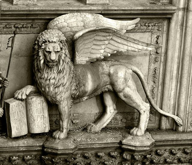 St Mark Winged Lion, Venice , province of Venezia , Veneto Italy
