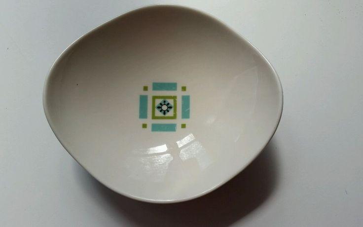 Ben Seibel Mid-Century Modern Soup Bowl Iroquois Bombay Green 60's Atomic Shape #Iroquois