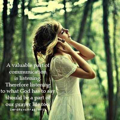 Take time to listen to God
