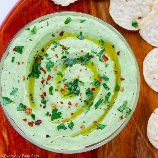 Avocado Greek Yogurt Dip  This Avocado Greek Yogurt Dip recipe is loaded with flavor and takes only 5 minutes to make!