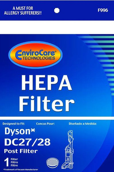 Dyson DC28 & DC27 Replacement Washable & Reusable Post HEPA Vacuum Cleaner Filter; Compare to Dyson DC28 Part# 915916-03