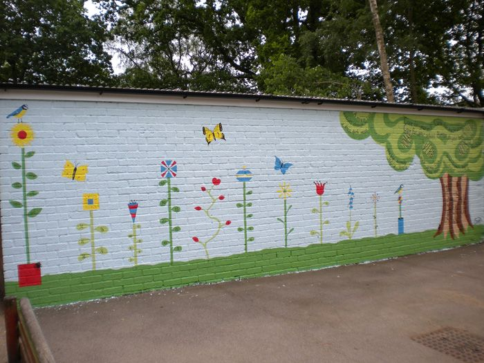 105 best school mural ideas images on pinterest school for Educational mural