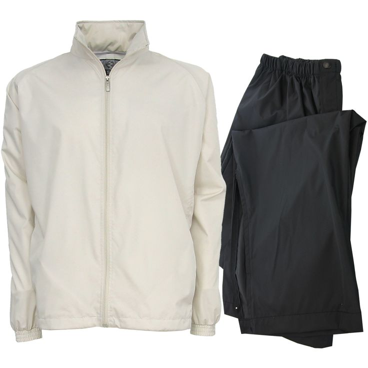 Made from 100% quiet polyester these mens packable, breathable and waterproof golf rain suits by IXSPA will ensure you stay warm and dry out on the course!