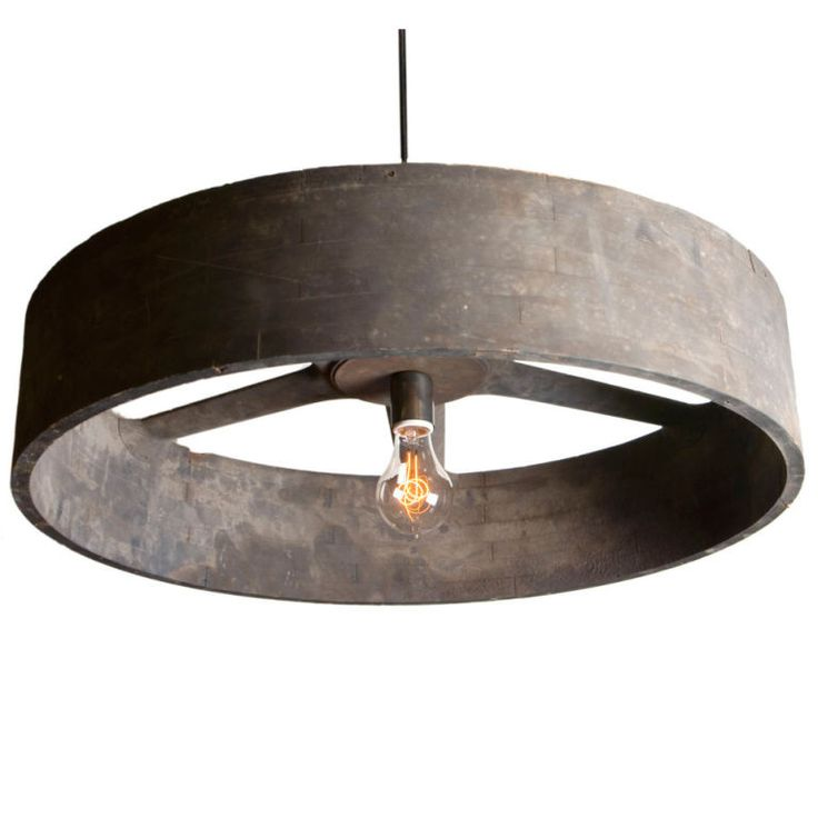 Gear Part Chandelier - Think I'll use a wooden circular drum ring, instead!  And maybe hang something from it...