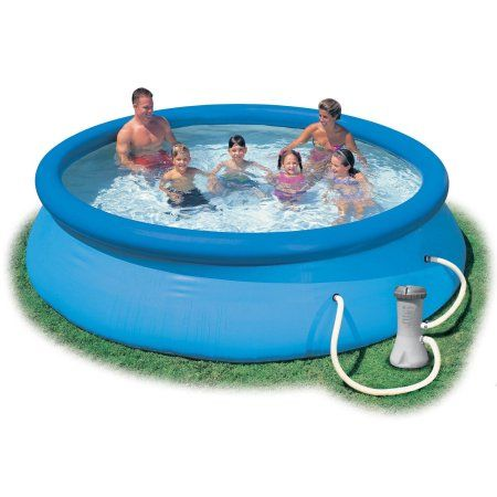 "Intex 12' x 30"" Easy Set Above Ground Swimming Pool & Filter Pump 