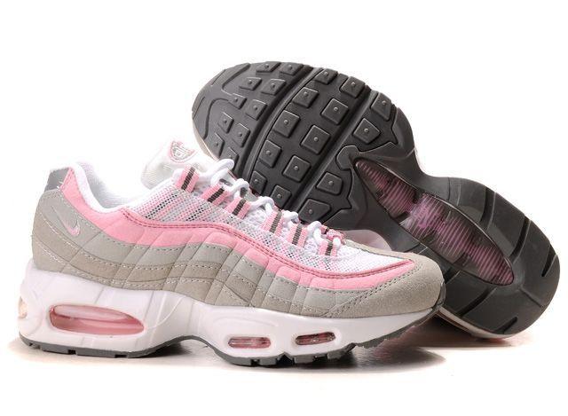 Danmark Billige Nike Air Max 95 Trainers Kvinder - Grey/Pink/White