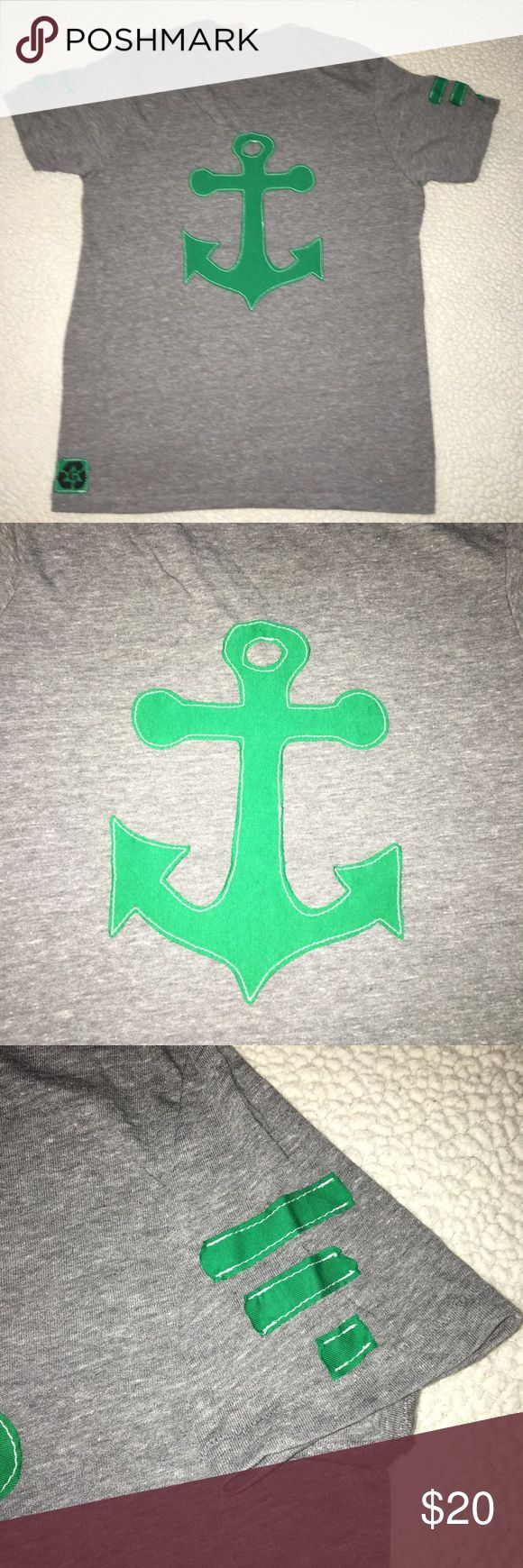 NWT alpha sigma tau sorority boyfriend V neck tee NWT Alpha Sigma Tau soft Heather gray boyfriend V neck short sleeve tee. Size AM. 50% polyester 38% cotton 12% rayon. Green anchor logo appliqué on back. Relaxed, loose fit. Solid front. Made in USA. $54 retail. Rare and one of a kind. #greek #life #college #university #alpha #sigma #tau #sorority #pledge #gray #green #anchor #big #little #sister #nwt #tee #vneck #fall #football #gameday Never used. Smoke free home. Check closet for similar…