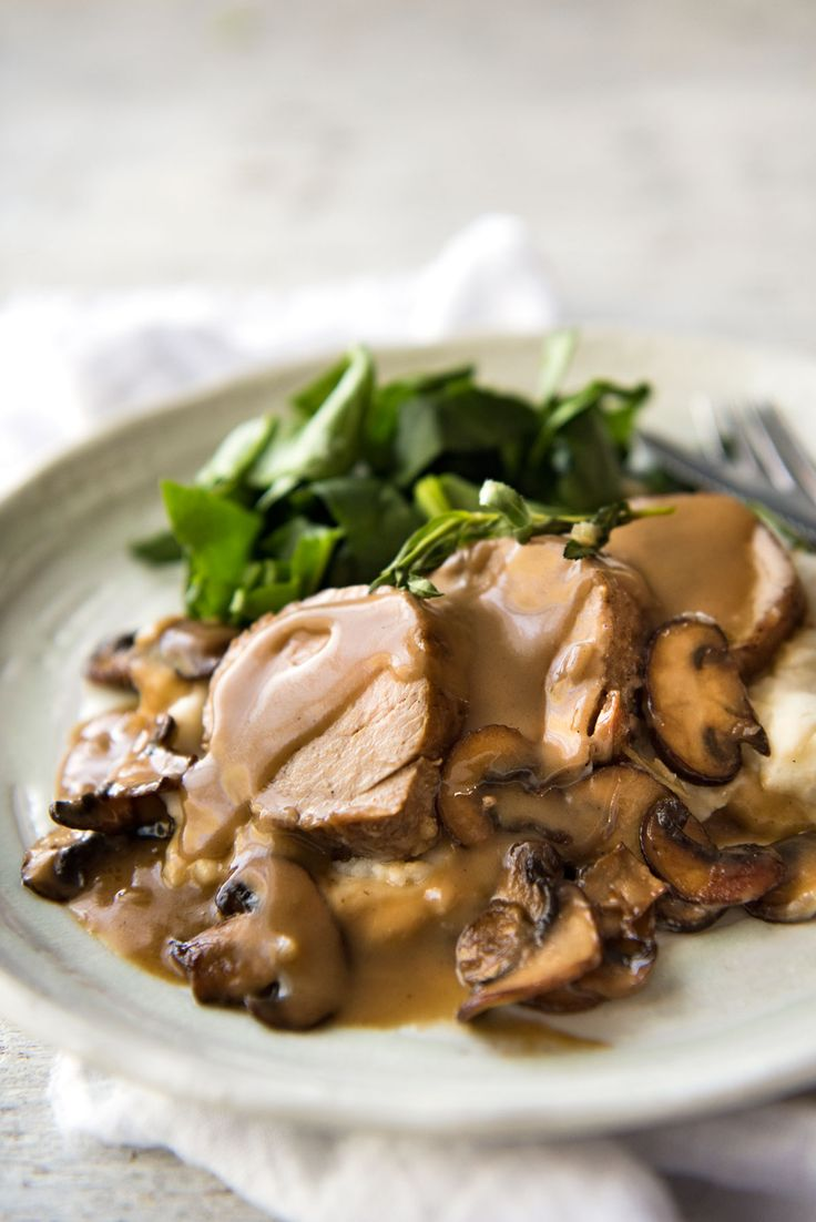 This Creamy Marsala Sauce is the most incredible sauce for pork tenderloin! www.recipetineats.com