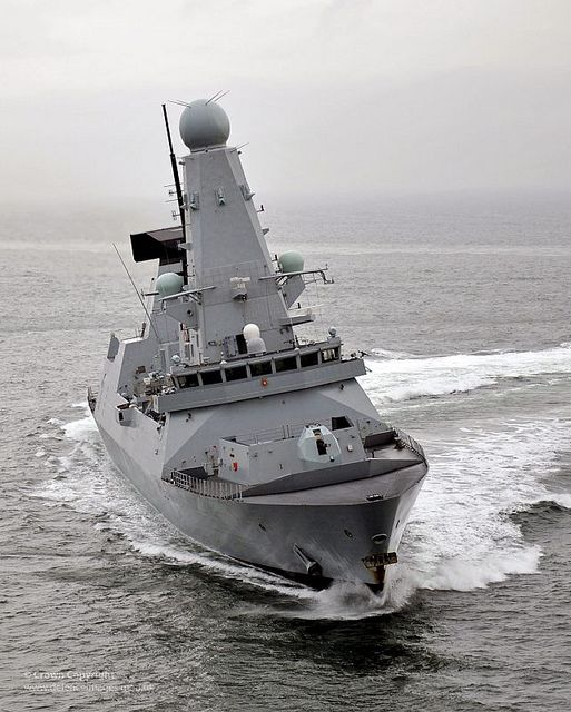Royal Navy Type 45 Destroyer HMS Diamond by Defence Images, via Flickr