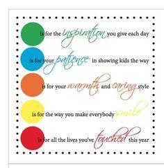 thank you for sunday school teachers poem - Google Search