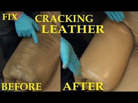 ▶ FIX CRACKING LEATHER - LEATHER REPAIR VIDEO ***** - YouTube