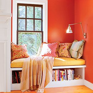 my favorite, bright, book nook