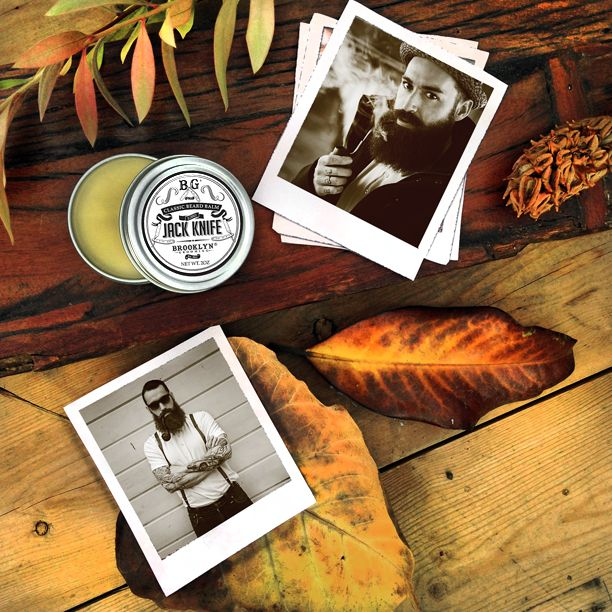 """We've teamed up with International man of mystery and tonsorial consultant extraordinaire Lord Jack Knife to create """"LKJ Beard Balm"""" LJK balm has the same mineral-rich formula as our Whiskers Beard Oil but with the addition of unrefined beeswax and nourishing shea butter maximizing cling for longer, thicker or coarser beards. #brooklyngrooming #best #natual #ljk #handmade"""