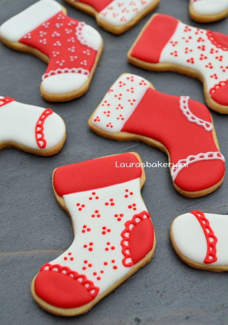 Kerstsokken koekjes - Laura's Bakery