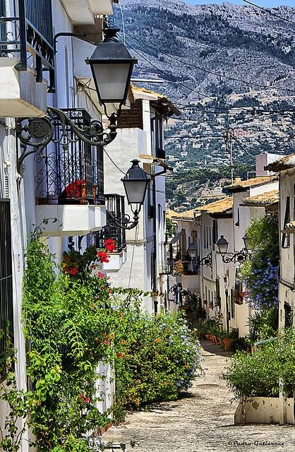 We drove down to Altea in our Alicante area of Spain for the day. It's a really pretty but touristy village on the coast. The coast road there is fun to drive.........