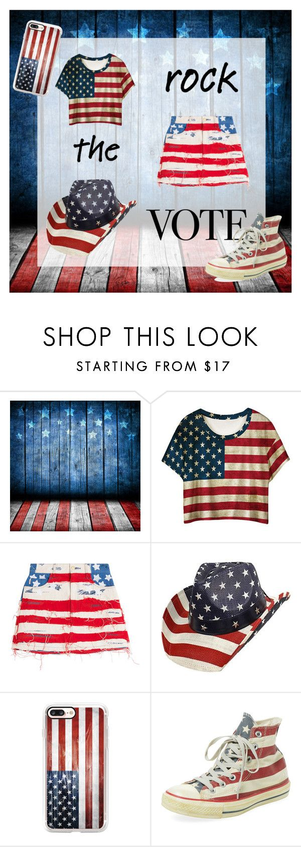 """""""Purely Patriotic"""" by istanbul-was-constantinople ❤ liked on Polyvore featuring Marc Jacobs, Casetify, Clinical Care Skin Solutions, redwhiteandblue, flag, starsandstripes, murica and rockthevote"""