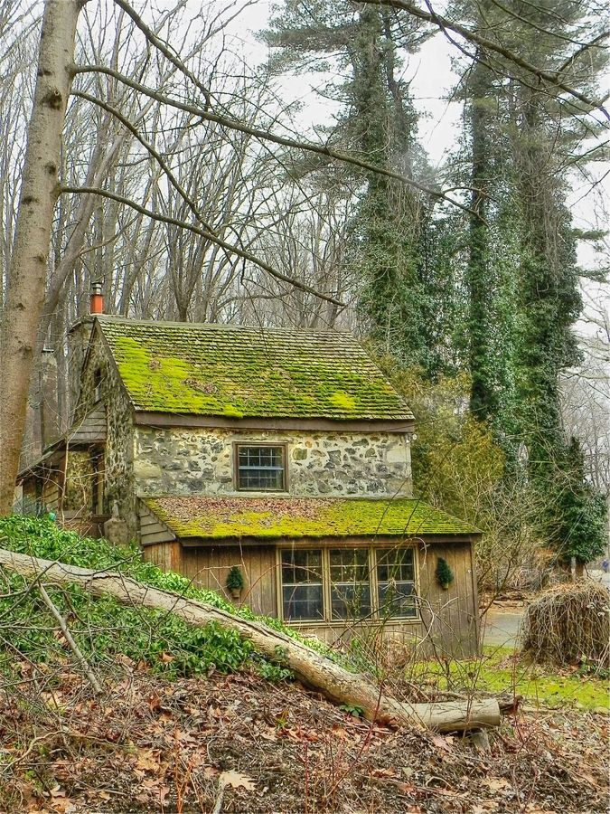 As If It Grew From The Hillside This Charming Stone Cottage Amidst Wooded Glen