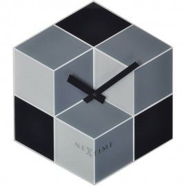 Cubic 3D Effect Wall Clock 43cm