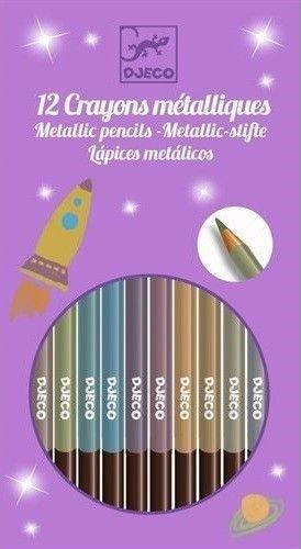DJECO metallic kleurpotloden 8 stks