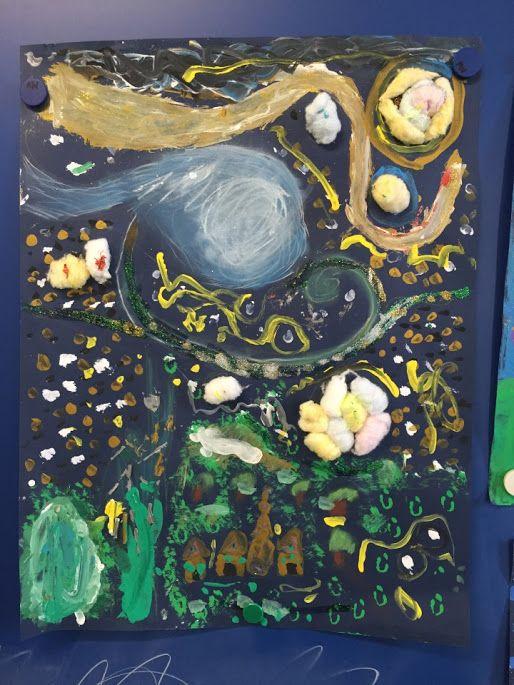 LA NIT ESTELADA VAN GOGH - Material: paper, colors - Nivell: 2PRI CI 2015-16 Escola Pia Balmes