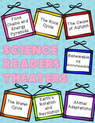 Seven Science Based Reader's Theater Skits for grades 3-6!