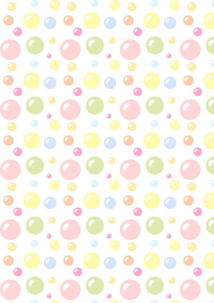 free printable bubbles pattern paper meinlilapark
