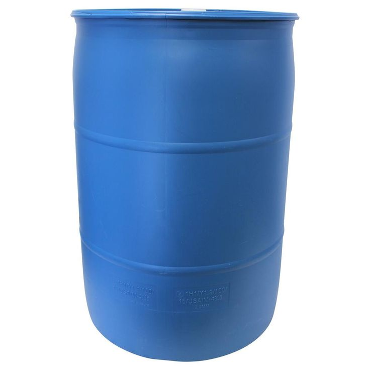 Emsco 55 Gal. Paintable Blue Industrial Plastic Rain Barrel-2770-1 - The Home Depot