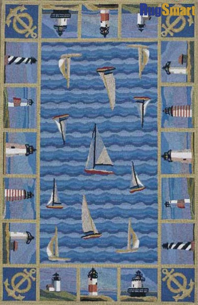Love this Blue Colonial Lighthouses Wool Rug by KAS Rugs on. 13 best bathroom images on Pinterest   Bathroom ideas  Bathrooms