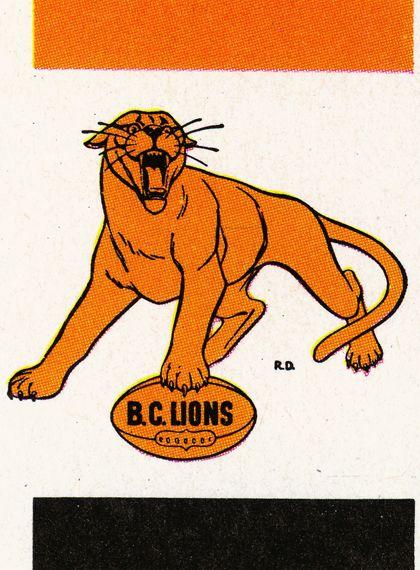 BC Lions vintage logo