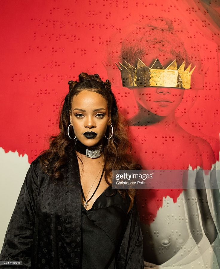 Singer Rihanna at Rihanna's 8th album artwork reveal for 'ANTI' at MAMA Gallery…
