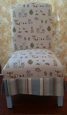 Nursing Chair - Original 1950s, newly professionally re-upholstered