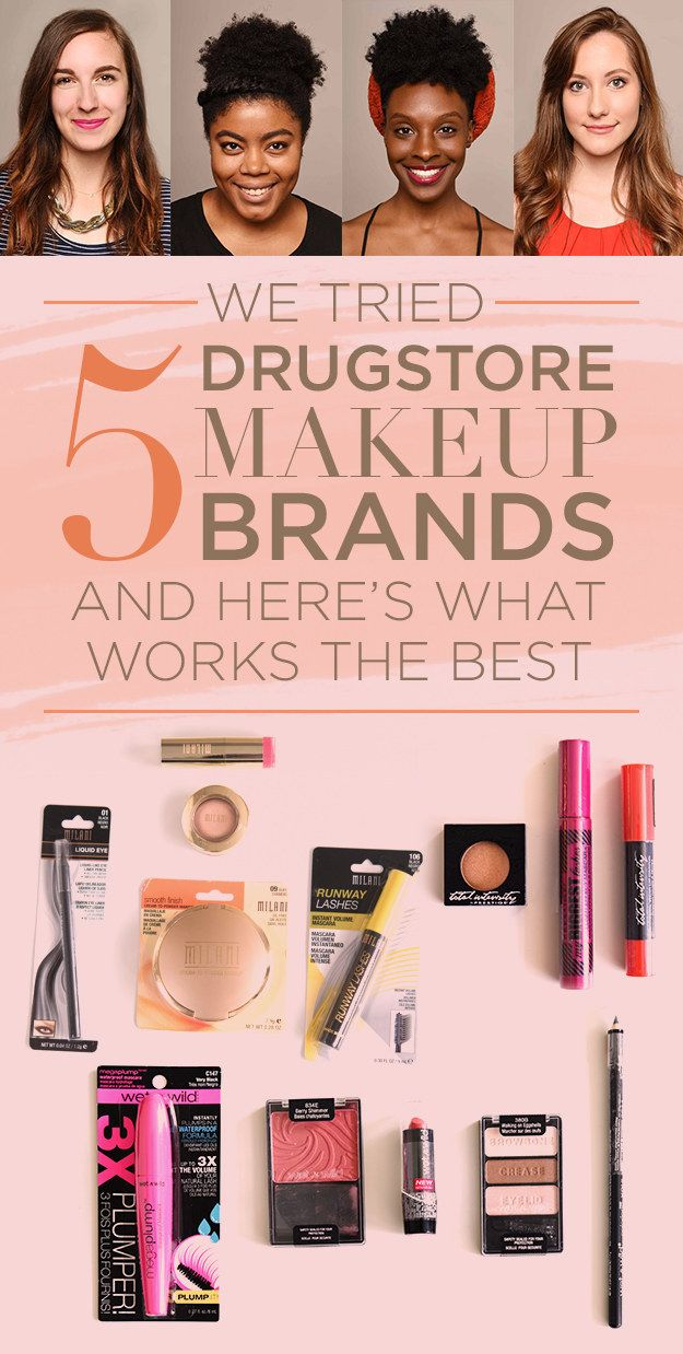 pinterest: @jaidyngrace We Tried Five Drugstore Makeup Brands And Here's What Actually Works Best