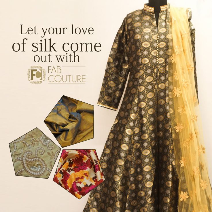 Let your love of #Silk come out with #FabCouture! #DesignerFabric at #AffordablePrices.  Buy your stock of fabric from: https://fabcouture.in/catalogsearch/result/?q=silk #DesignerDresses #Fabric #Fashion #DesignerWear #ModernWomen #DesiLook #Embroidered #WeddingFashion #EthnicAttire #WesternLook #affordablefashion #GreatDesignsStartwithGreatFabrics #LightnBrightColors #StandApartfromtheCrowd #EmbroideredFabrics