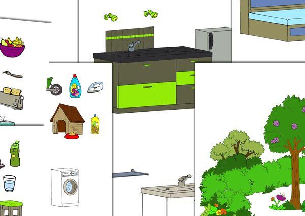 Maison _ Réalisé avec le logiciel ArtisKit -  En partage sur ce groupe Face Book –  Partage de matériel Artiskit :  Orthophonie http://www.facebook.com/groups/128326657315777/ -  Site ArtisKit : http://www.artiskit.com