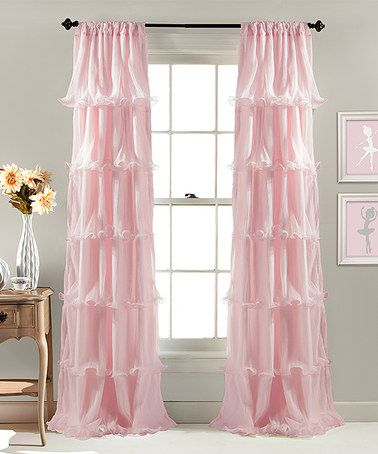 Aren't these pretty? Remind me of a ballerinas tutu. Loving this Pink Nerina Window Curtain on #zulily! #zulilyfinds