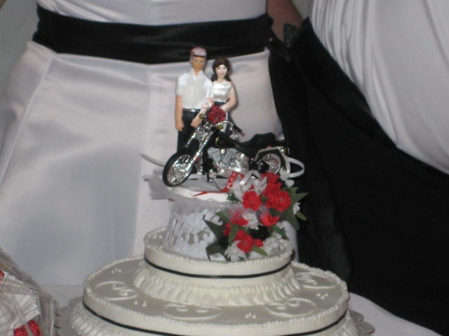 We had the most awesome cake topper