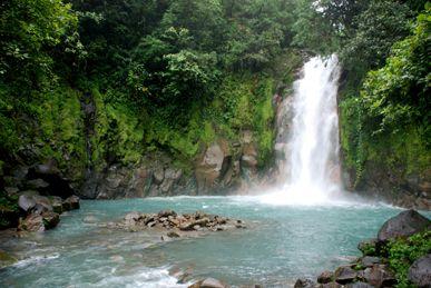 Celeste River Waterfall Costa Rica