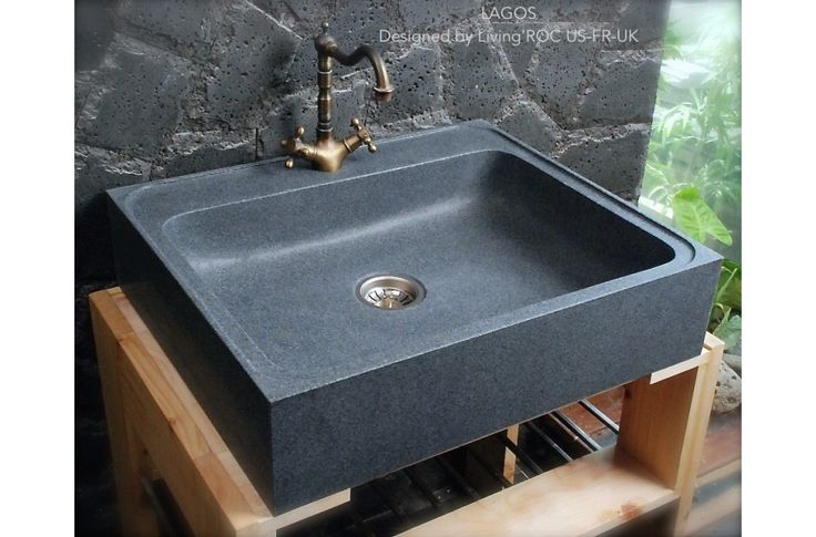 700x600 Grey Granite Stone Kitchen Sink - LAGOS