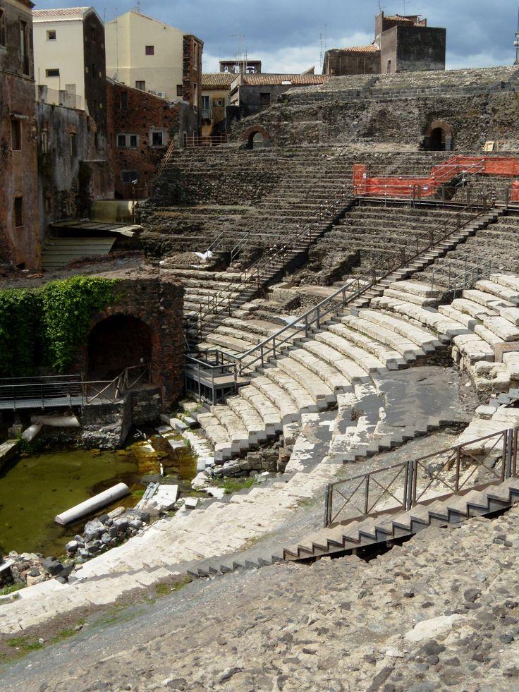 Roman theater of Katana (modern Catania), Sicily.