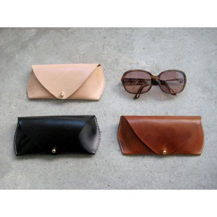 Materials :: Leather :: Leather Sunglass Case by Fitsy $65