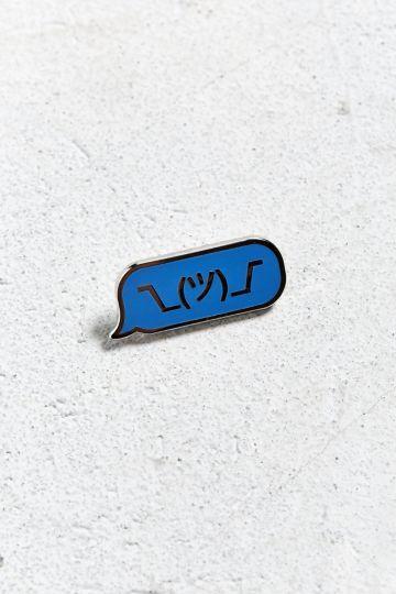 Pintrill Shrug Emoji Pin