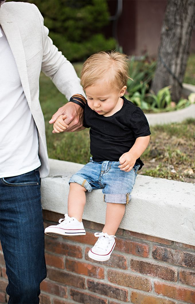 denim shorts and converse for baby boy