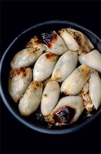 // Stuffed onions Yotam Ottolenghi