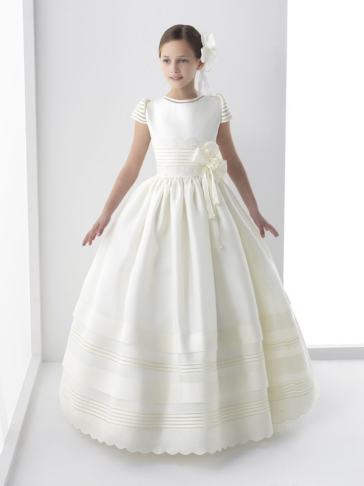 >> Click to Buy << 2017 New Ball Gown Flower Girl Dresses with Bow Girls Pageant Gown First Communion Dresses For Girls Free Shipping #Affiliate