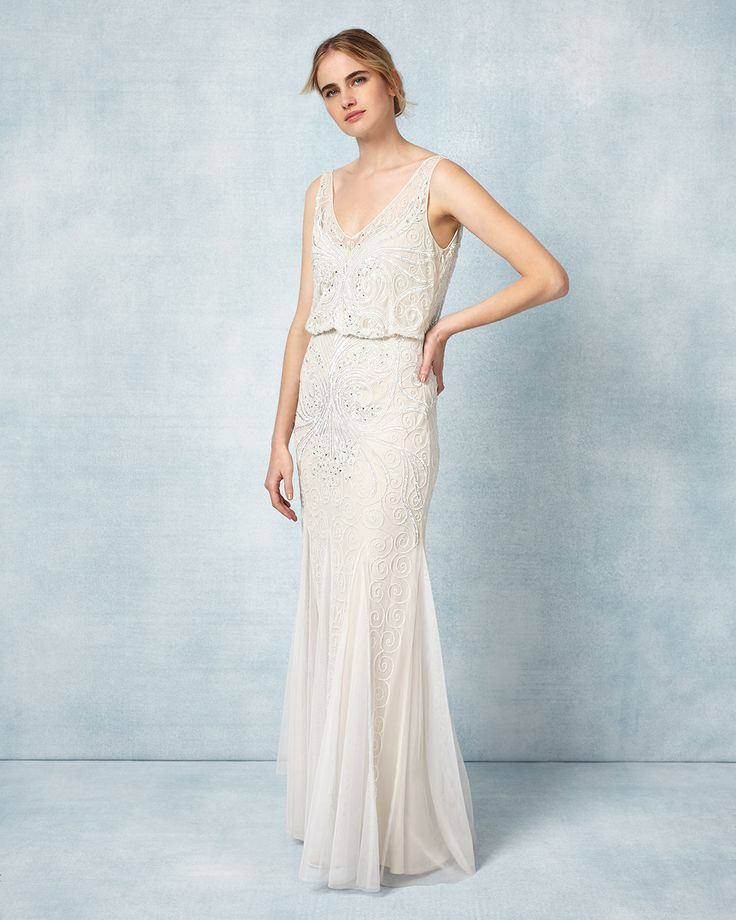 1930s Style Wedding Dresses Phase Eight Cathlyn Bridal Dress £495.00 AT vintagedancer.com